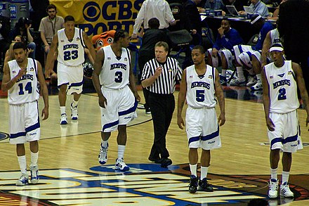During the 2008 NCAA Final Four. Memphis players at 2008 Final Four.jpg