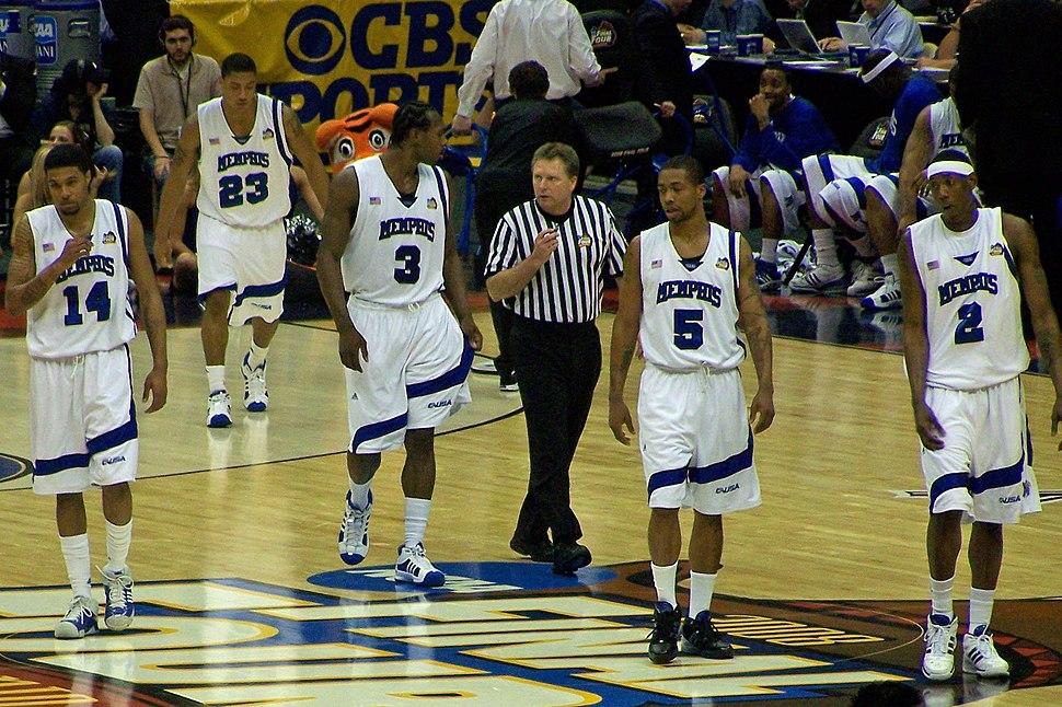 Memphis players at 2008 Final Four
