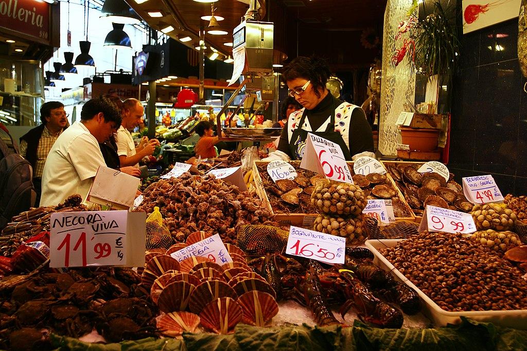 Marché (ou mercat) de la Boqueria à Barcelone - Photo de Böhringer Friedrich