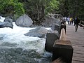 Merced River below Vernal Falls at the footbridge - panoramio.jpg