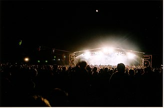 Meredith Music Festival - Image: Meredith Supernatural Amphitheatre (night)