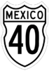 Federal Highway 40 shield