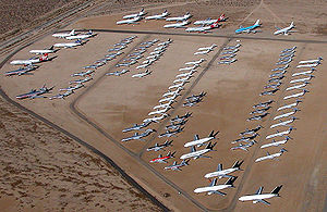 Mojave Air and Space Port - Mojave Airport, storage location for commercial airliners.