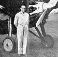 Michel Detroyat standing Morane-Saulnier MS.130 L'Air July 15,1929.jpg
