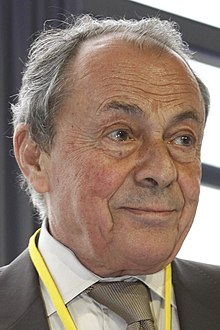 Michel Rocard in close up, French politician
