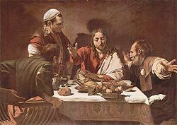 La cena de Emaús, pintado en 1601.