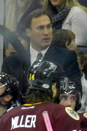Mike Foligno - Image: Mike Foligno coaching