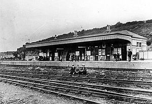 Milford Haven railway station - View of Milford Station circa 1880