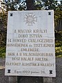 Military Memorial Park, 14th Infantry Regiment plaque in Eger, 2016 Hungary.jpg
