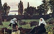 """John Everett Millais, """"The Vale of Rest""""."""