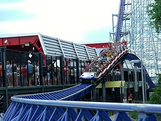 Millennium Force - The final airtime hill next to the station