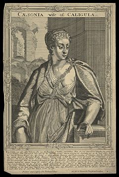 Milonia Caesonia, wife of Caligula, Emperor of Rome. Line Wellcome L0050549.jpg