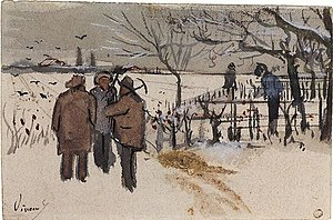 Landscape with Snow - Image: Miners in the Snow Winter