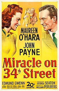 <i>Miracle on 34th Street</i> 1947 Christmas film by George Seaton