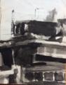 Modernist building in ink wash. Christopher Willard.png