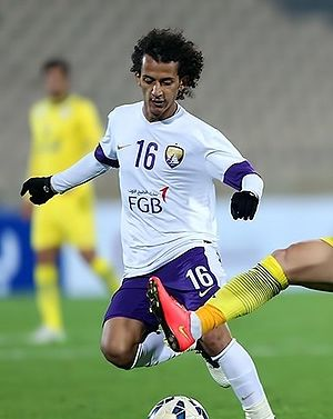 Mohamed Abdulrahman - Abdulrahmna playing for Al-Ain in match against Naft Tehran, 2015 ACL play-off