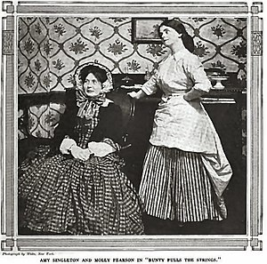 Molly Pearson - Molly Pearson (right) with Amy Singleton in Bunty Pulls the Strings (Everybody's Magazine, 1912)