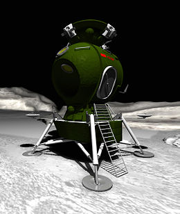 Soviet lunar lander drawing