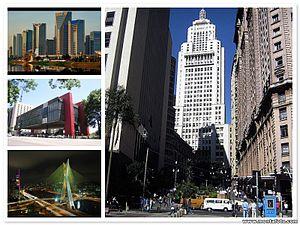 Montagem de fotos da cidade de São Paulo