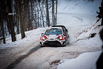 2017 World Rally Championship - Toyota scored a podium on their return to the WRC in Monte Carlo.