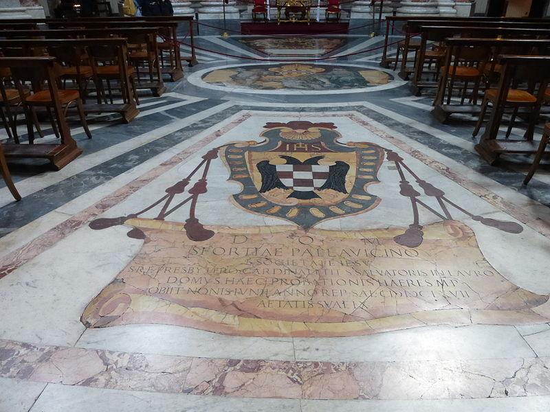 Monti - s Andrea al Quirinale - tomb kort Sforza Pallavicino P1000096.JPG