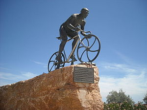 Cesenatico - Statue dedicated to Marco Pantani