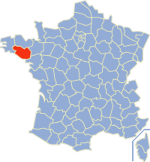 Communes of the Morbihan department - Image: Morbihan Position