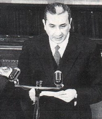 Aldo Moro - Moro speaks to the Chamber of Deputies, 1963.