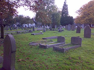 Arthur Cecil - The Old Mortlake Burial Ground where Cecil is buried
