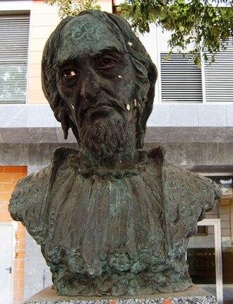 Moses de León - Statue of Moshe in Guadalajara, Spain.
