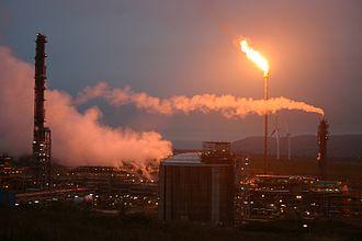 Mossmorran - Gas flare in October 2012