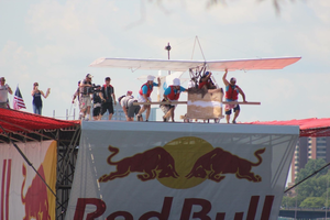 Red Bull Flugtag - 'The Boston Creme Flies' from Motus, LLC at the Red Bull Flugtag 2016 in Boston, Massachusetts