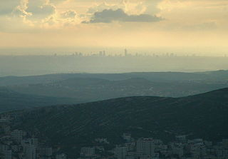 mountain in the immediate vicinity of the city of Nablus in the West Bank