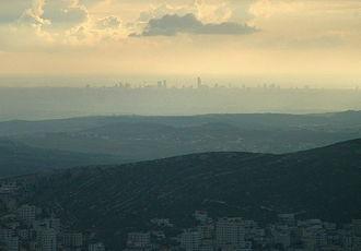 Mount Ebal - The view from Mount Ebal of Tel Aviv