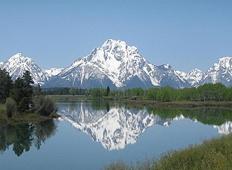Mount Moran - Mount Moran with the Snake River in the foreground
