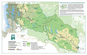 Mountains to Sound Greenway - Image: Mountains to Sound Greenway, Washington, US