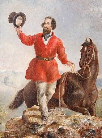 Edward Hargraves - returning the salute of the gold miners (February 12, 1851) by Thomas Tyrwhitt Balcombe