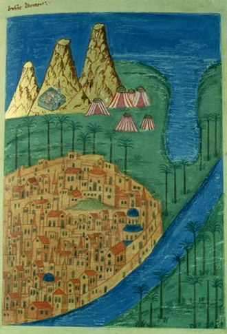 Mount Sinai - Mount Sinai depicted on late medieval Georgian manuscript.