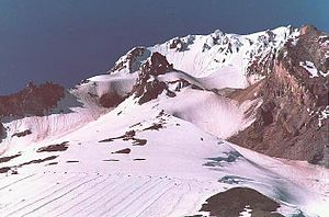 Palmer Glacier - Mount Hood summit and Palmer Glacier