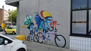 Muurschildering The Student Hotel Amsterdam City