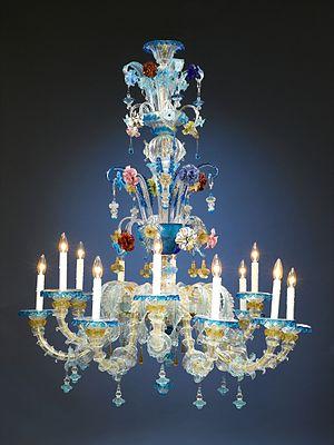 Murano glass - Venetian Murano glass chandelier. Circa 1880