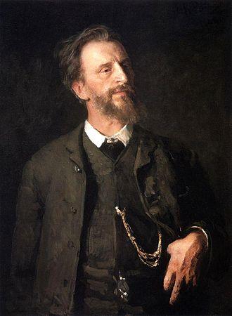 Grigoriy Myasoyedov - Grigoriy Myasoyedov. Portrait by Ilya Repin (1904)