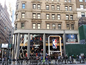 NBA Store - The NBA store at 545 Fifth Avenue