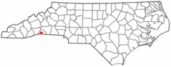 Location of Columbus, North Carolina