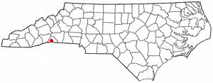 Columbus, North Carolina - Image: NC Map doton Columbus
