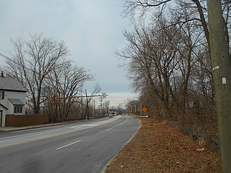 New Jersey Route 63 - Route 63 northbound in Fort Lee after Route 5 connector