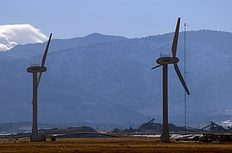 National Renewable Energy Laboratory - The main research wind turbines at NREL