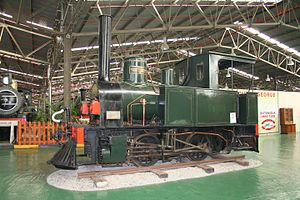 Netherlands-South African Railway Company - NZASM 14 Tonner 0-4-0T, no. 1 Transvaal at the Outeniqua Transport Museum.