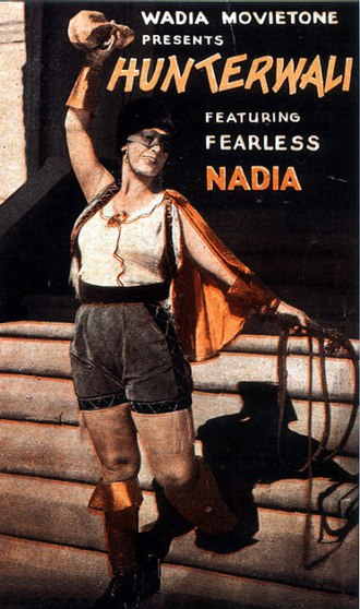 Fearless Nadia - Poster of Hunterwali (1935) featuring Fearless Nadia.