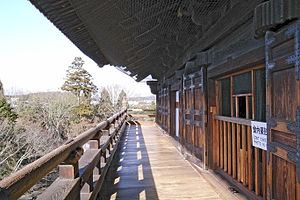 Nanzen-ji - View from the second story of the Nanzen-ji Sanmon